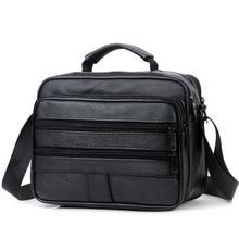 New Men Leather Handbag Zipper men Business bag Black Male Bag Shoulder bags Messenger bags mens briefcases bag Crossbody bag