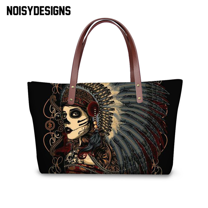 c3424a9da0 Women Handbags Totes Fashion Female Shoulder Bag Ladies Crossbody Bags Rose  Skulls Printed Tote Accept Custom made Logo For free