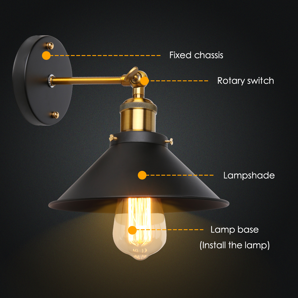 online get cheap halogen wall lights aliexpress com alibaba group retro brass wall lamp industrial nordic american country style single head wall lamp black umbrella lights lighting home decor