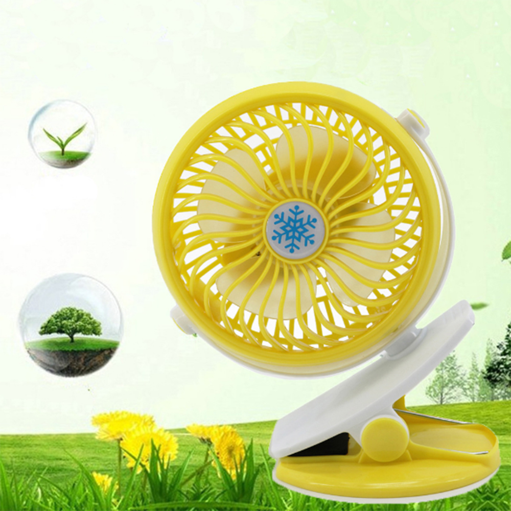 Mini USB Rechargeable Battery Portable Fan Clip on The Desk Baby Stroller XP