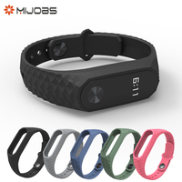 Original Mijobs Dual Color Strap For Xiaomi Mi Band 2 Silicone Strap Bracelet Replacement Wristband Smart Band for Mi Band 2