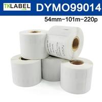 5 X Rolo de etiquetas dymo 99014 compatível para DYMO labelwriter 54mm x 101mm x 220 pcs etiqueta de endereço (grande)|label dymo|label label|label roll -