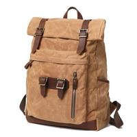 Men Canvas Backpack Outdoor Travel Backpack Canvas School Bag Canvas Backpack Outdoor Waterproof Travel Bag
