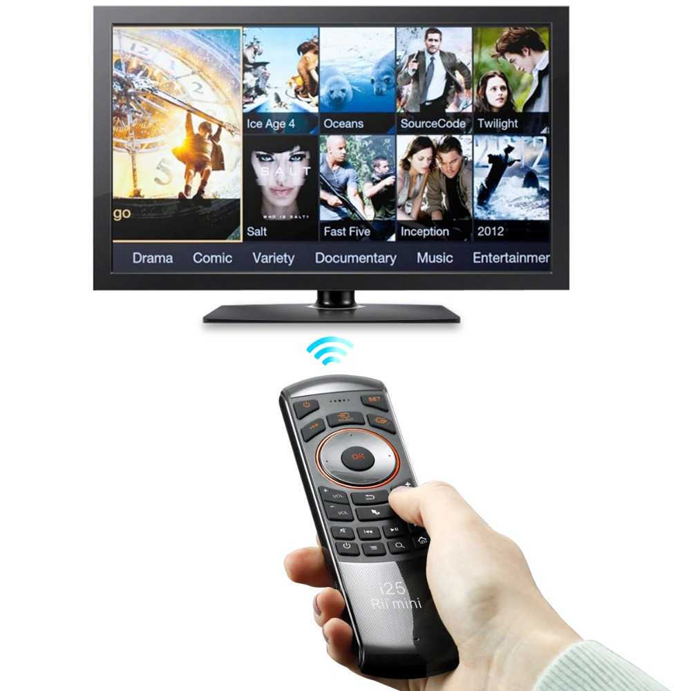 aef833d6668 2016 New Original Rii mini i25 2.4Ghz Air Mouse Remote Control with English  Keyboard for Samsung Smart TV Android TV BOX-in Keyboards from Computer &  Office ...