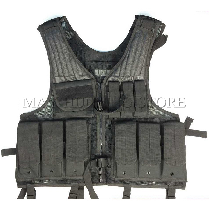 Black Hawk Top quality Military Army Combat Special CS Tactical Vest For War Game Huting Training Free Shipping