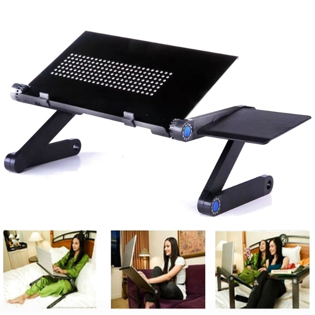 Awesome 360 Foldable Laptop Desk Table Cooling Fan Hole Stand Portable Lapdesks  Tray New Laptop Stand Adjustable Awesome Ideas
