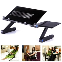 360 Foldable Laptop Desk Table Cooling Fan Hole Stand Portable Lapdesks Tray New Laptop Stand Adjustable