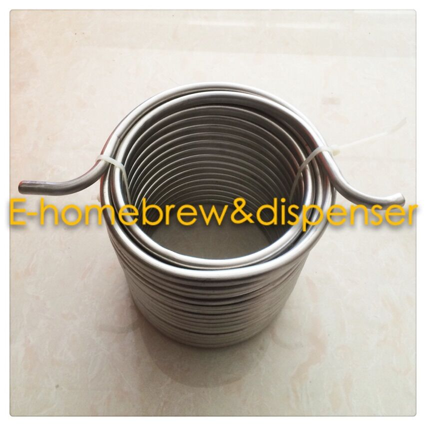 50'*3/8'' 304 stainless steel Wort Chiller for your joceky box without connector