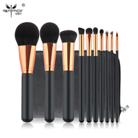 High Quality Gold Ferrule 10 PCS Makeup Brush Set New Makeup Brushes Beautiful Powder Blush Eyeshadow