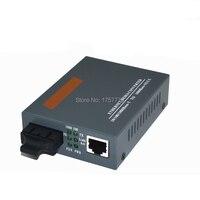 משלוח חינם 1 יחידות Gigabit סיב האופטי Media Converter Multi-mode דופלקס 1000 Mbps יציאת SC 2 KM חיצוני אספקת חשמל