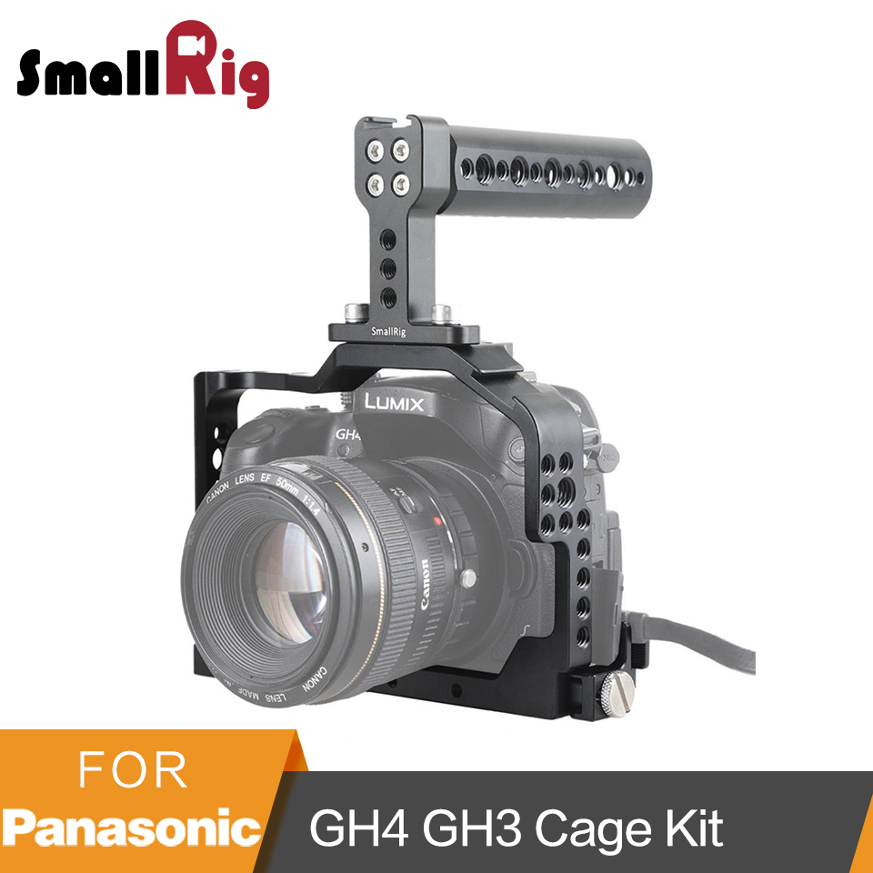 SmallRig For Panasonic Lumix DMC-GH4/GH3 Camera Cage Kit with Top Handle and HDMI Clamp - 1980 smallrig for panasonic lumix dmc gh4 gh3 camera cage kit with top handle and hdmi clamp 1980
