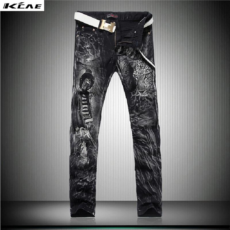 ФОТО Spring 2016 Hot Men'S designers Jeans 3d Slim mens jeans Pants Men's Trousers Male Long Jeans Black Pants