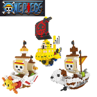 Anime One Piece Thousand Sunny Going Merry Pirate Ship Assemble Model Retail Box Boat Action Figure