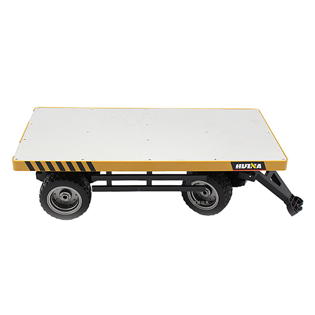 1 10 Flatbed Trailer Diecast Alloy Metal Plastic Toy Car Gift Collection