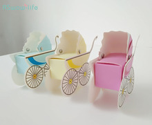 12pcs Baby Carriage Packing Box New Personalized Trolley Birthday Candy Gift For Wedding Party