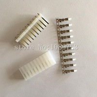 100sets/Lot CH 3.96mm 10 Pin Connector Kit Straight Pin Header+Terminal+Housing