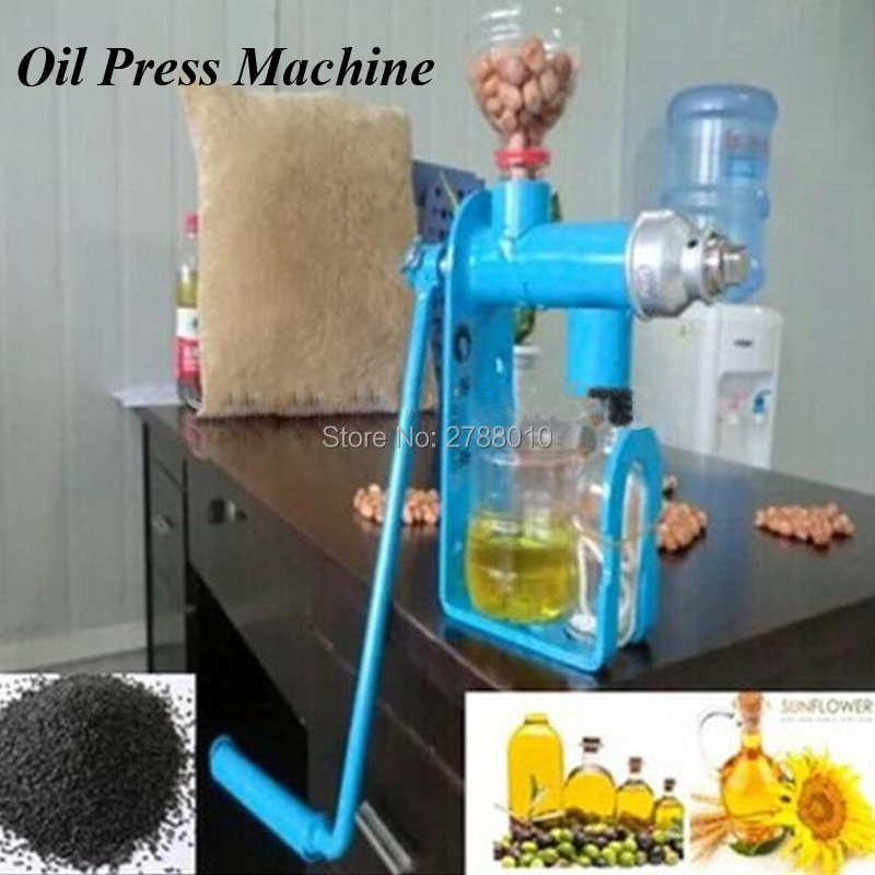1pc Hand Operated Oil Press Machine Manual Oil Extraction Press Household Oil Expeller SD-03 1pc hand operated oil press machine for family