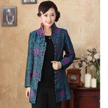 Новое поступление осень зима Китайская традиционная Женская Удлиненная куртка пальто M L XL XXL 3XL 4XL 2137