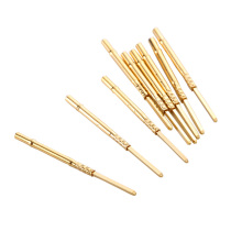 100Pcs R75-3W Electronic Test Tool Brass Tube Spring Probe Needle Outer Diameter 1.32mm Total Length 26.2mm