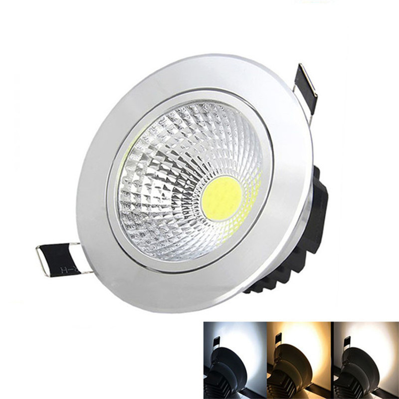 50X DHL  Dimmable 5W/7W/9W/15W LED COB Downlight Light AC85-265V Cabinet Driver