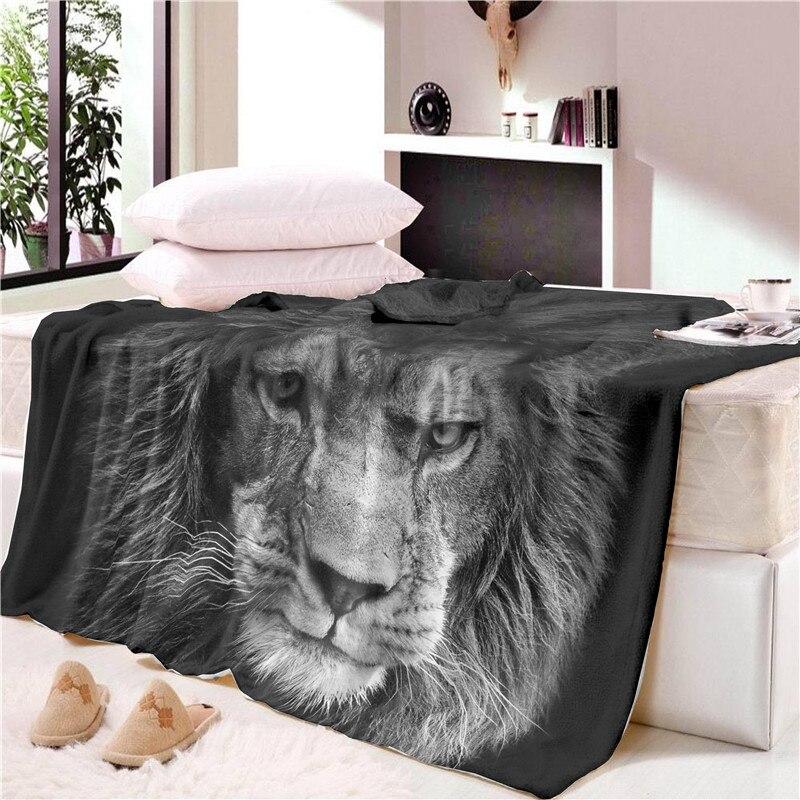 Us 21 25 5 Off Art Velvet Plush Blanket On The Bed Lion In Sky Throw Bedding Cobertor Para Inverno Blankets From Home Garden