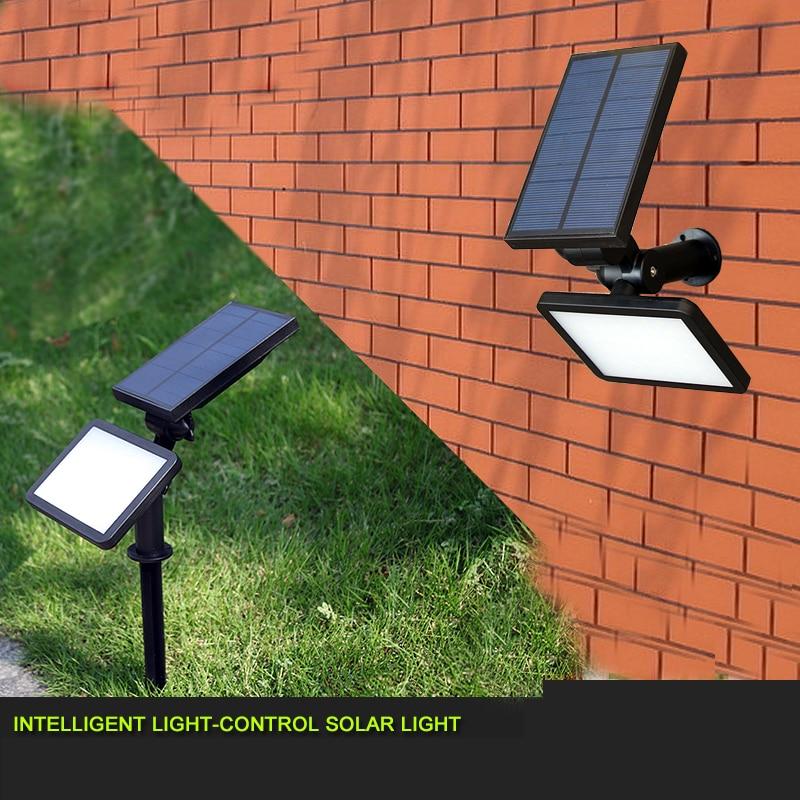 ФОТО New Arrival LED Lawn Lamp Outdoor Solar Power 48 LEDs Wall Spotlight Garden Street Lamp Landscape Spot Lights Emergency Lamp