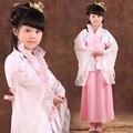 Традиционный Древний Китайский Костюм для Костюма Hanfu Ребенок Девочек Одежда Косплей Платья Танец Династии Тан Костюмы