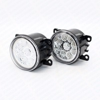 2pcs Car Styling Round Front Bumper LED Fog Lights DRL Daytime Running Driving For Acura TSX