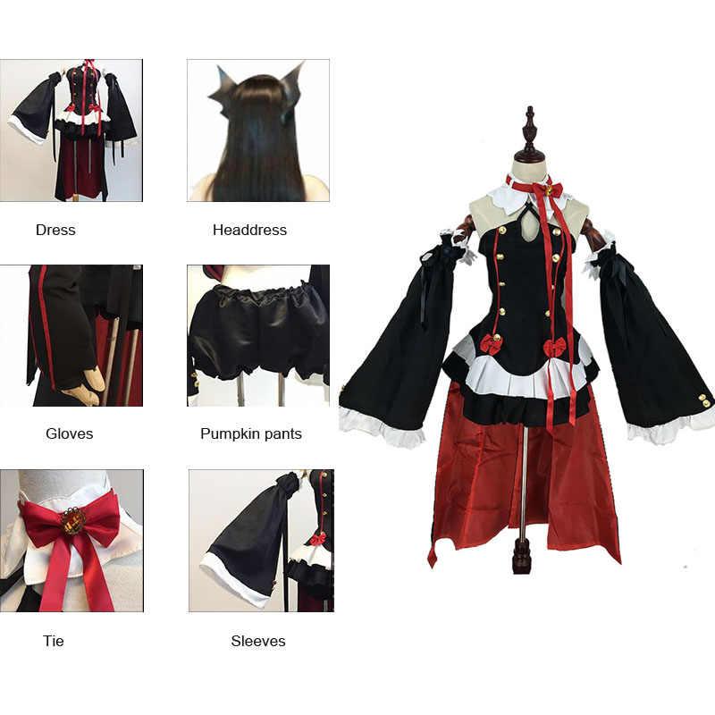 Coshome Owari Keine Seraph Der Ende Krul Tepes Perücken Cosplay Kostüme Lolita Kleid Vampire Uniformen 6 Teile/satz Für Halloween Party