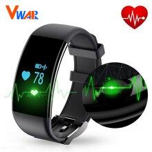 Vwar Bluetooth Smart Band D21 Водонепроницаемый монитор сердечного ритма кардио Спорт SmartBand фитнес-трекер dfit Смарт Браслет