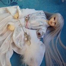 Костюм BJD белый лотос месяц без реквизит веер для 40-75 см высокий кукла