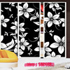 Black And White Flower Pattern Opaque Glass Film Wardrobe Living Room Bathroom Balcony Windows And Glass