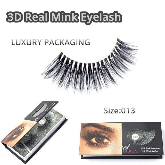 407d321b531 1 Pair 100% Real Mink Natural Thick False Fake Eyelashes Eye Lashes Makeup  Extension Beauty Tools 3D Lashes M-013