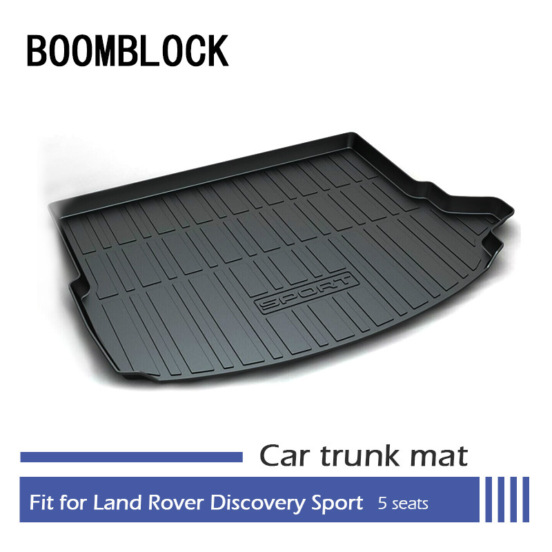 BOOMBLOCK Car Special Trunk Floor Foot Mat Non-slip Dustproof Interior Accessories For Land Rover Discovery Sport L550 5 Seats ветровики ст land rover discovery sport l550 2014