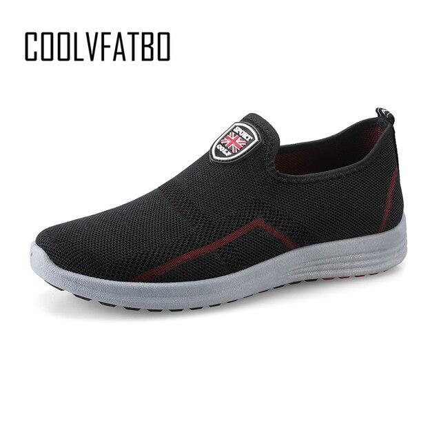 COOLVFATBO Primavera Das Sapatilhas Dos Homens Sapatos Casuais Sapatos de Malha de Ar Para Os Homens Respirável Moda Sneakers Homens Formadores Sapato Masculino
