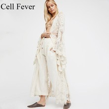 2019 Pareo Beach Cover Up Boho Lace Bikini Cover Ups Swimwear Women's Beach Dress Bathing Suit Robe De Plage Long Cardigan pareo beach white cover up chiffon bikini swimwear women robe de plage beach cardigan bathing suit swimsuit long blouse dress