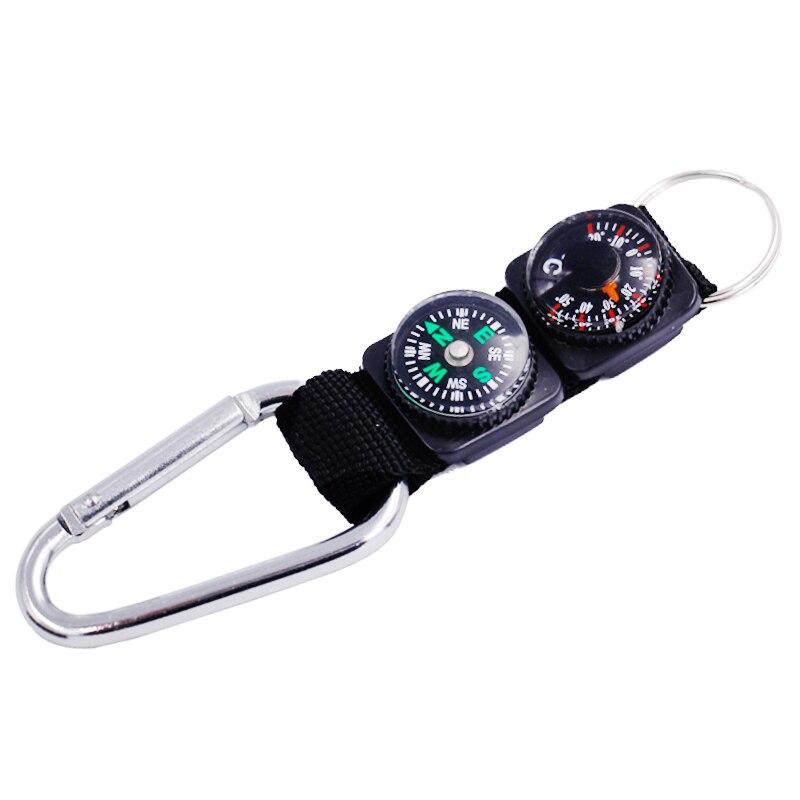 Многофункциональный Открытый альпинистский кемпинг компас термометр брелок тестер температуры Походное устройство для выживания 39% скидк...