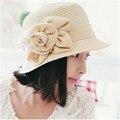 2017 Nuevos Sombreros de Playa Para Las Mujeres Toca Gorro Gorras de Verano de Paja Femenina Sombreros Kentucky Derby Sombreros Chapeu Feminino HAT0392
