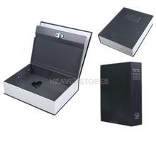 Dictionary Book Valuables Storage Safe Box Secret Lock Black Size L hv3n