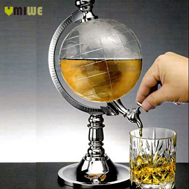 Bar decoration Creative mini globe water dispenser personality beer Liquid drinking machine home decor Wine Pourers