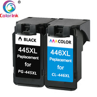 ColoInk 2Pack 445XL 446XL for Canon PG 445XL CL 446XL ink cartridge for Canon PIXMA MX494 MG 2440 2540 2940 MX494 IP2840