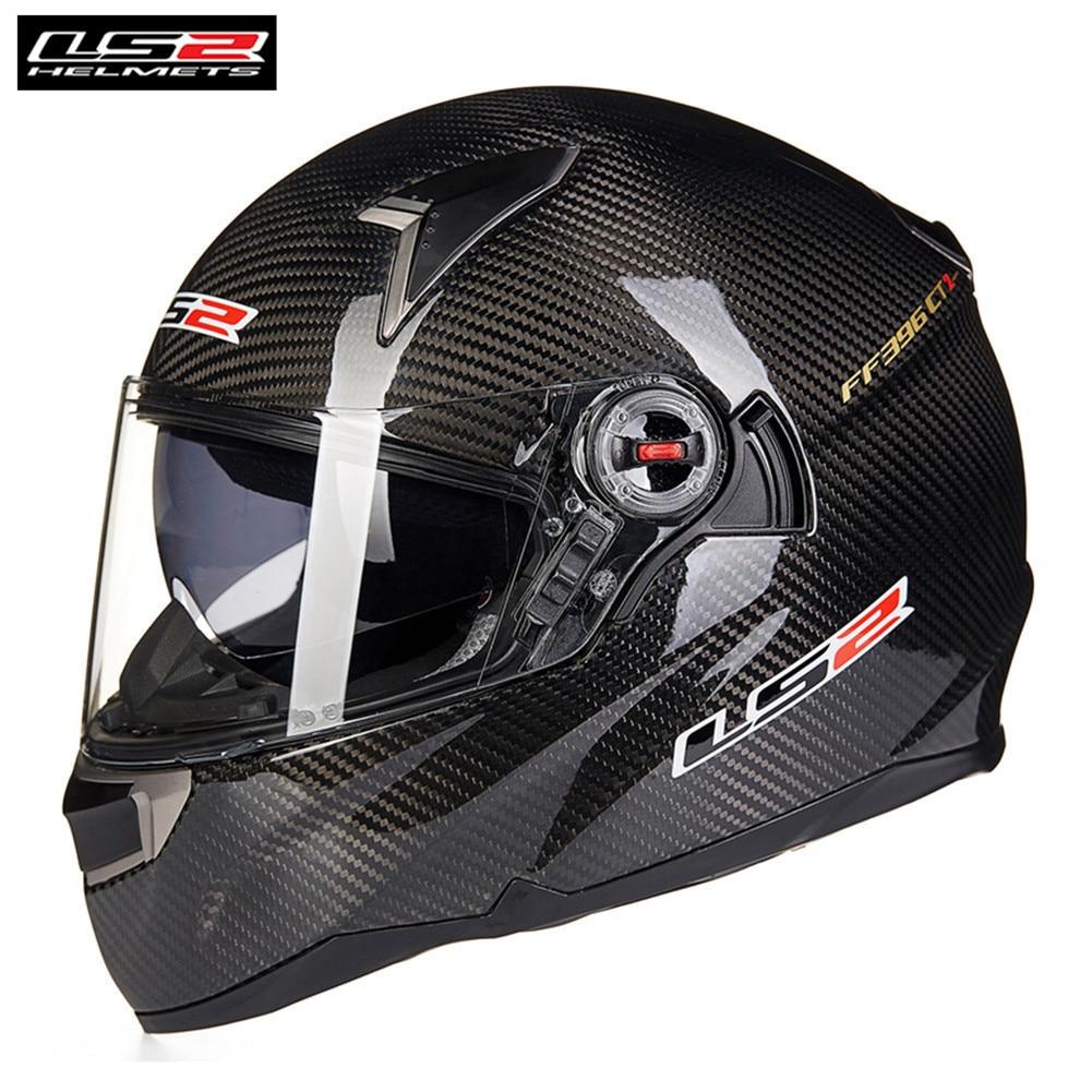 LS2 fibra de carbono de la motocicleta Casco FF396 CR1 cara completa carreras profesionales Cruiser Moto Helm Kask Moto Casco Capcetes