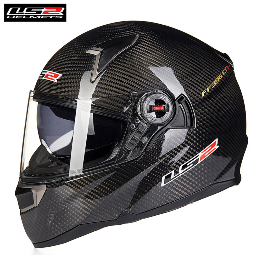 LS2 Moto En Fiber De Carbone Casque FF396 CR1 Plein Visage Professionnel Racing Cruiser Moto Helm Kask Moto Casco Capcetes