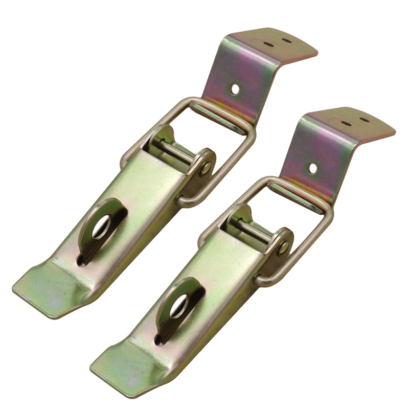 2Pcs Metal Latch Locking Catch Toggle Clamp Clip For Box Chest Drawer Toolbox