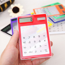 Korea creative stationery ultra-thin fashion lovely calculator solar calculator transparent touch computer