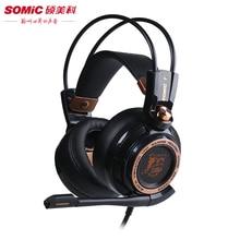 Somic G941 Amélioré Gaming Casque Deep bass Stéréo 7.1 surround casque Sur-Oreille Jeu Casque avec Lumière pour PC jeu