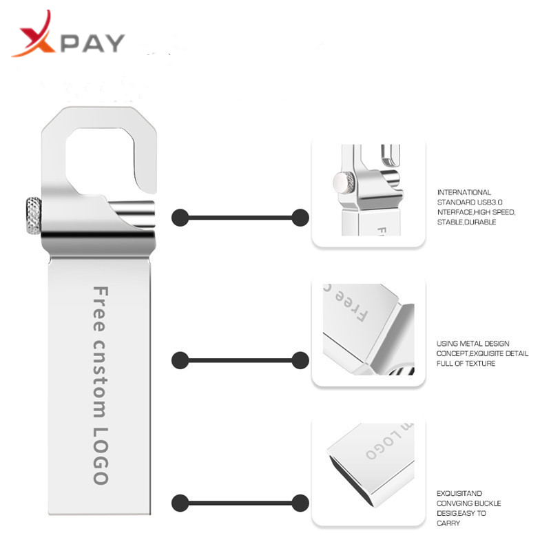 Image 5 - New usb flash drive 2.0 metal keychain pen drive 32GB usb stick 4GB 16GB 64GB 128GB waterproof flash disk 8GB Free print LOGO-in USB Flash Drives from Computer & Office