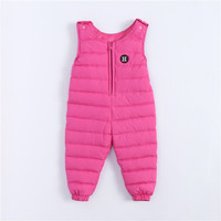 Kids Baby Girls Duck Down Pants Children Boys Clothes Trousers Autumn Winter Warming Belt Pants Windproof