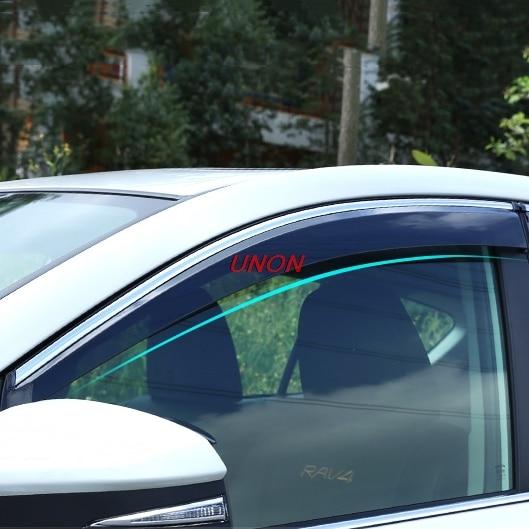 Déflecteurs de vitres latérales pare-brise pour voiture pare-brise sur les fenêtres accessoires pour toyota rav4 rav 4 2018 2019