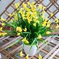 Flores Plásticas artificiales Ramo Falso Barato para la Decoración de La Boda de Mini Simulación Calla Flor Planta Verde Envío Gratis